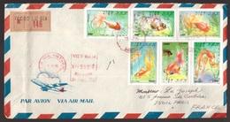 Vietnam, Raccomandata Per La Francia Del 1964 Con Affrancatura Multipla A Tematica Pesci     -CL96 - Poissons