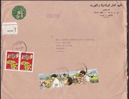 Libya: Cover To Netherlands, 5 Stamps, Gaddafi, Qadhafi, Dictator With Child, Rare Real Use (damaged, Fold) - Libië