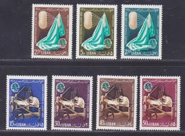 LIBAN AERIENS N°  344 à 350 ** MNH Neufs Sans Charnière, TB (D9283) Congrès Mondial De La Soie - 1965 - Libanon