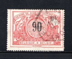 TR25 Gestempeld 1895-1902 - Zelfde Type Als Vorige Met Tweetalige Tekst - Bahnwesen