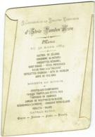 Menu. Première Communion D'Elvir Vanden Hove, 1884. - Menus