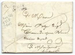 MARQUE POSTALE PORT PAYE P.33.P ST PONS HERAULT POUR MONTPELLIER / 1823 - 1801-1848: Précurseurs XIX