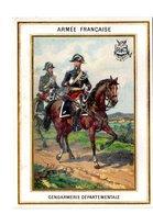 Chromo Armée Française, Gendarmerie, Imp. Sicard (?), Militaire - Cromos