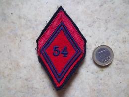 Insigne Tissu Losange De Bras 54° Rgt D'artillerie - Patches