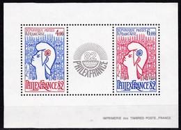 Frankreich, 1982, MiNr. 2343 - 2344 (Block 6),  FHILEXFRANCE , MNH ** Neuf - Blocs & Feuillets