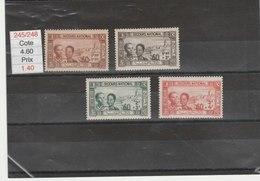 TUNISIE**LUXE N° 245/248 COTE 4.80 - Unused Stamps