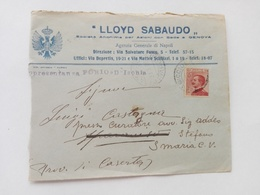 1925 - Busta Lloyd Sabaudo, Forio D'Ischia - Storia Postale
