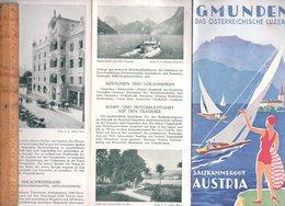 Dépliant Touristique : GMUNDEN Das Österreichische Luzern Austria Österreich C.1930 - Dépliants Turistici