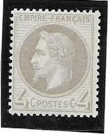 FRANCE - TIMBRE N° 27 B  - GRIS - Avec Gomme Sans Trace De Charnière - 1863-1870 Napoleon III With Laurels