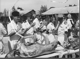 Lot De 3 Photos Originales 18 X 24 L LAOS  Indochine TIRAILLEURS MAROCAINS.  A Confirmer - Guerra, Militari