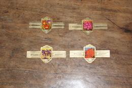 4 Bagues De Cigares (marque WILLEM II) Série Fleurs - Articoli Pubblicitari