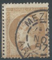 Lot N°54004   Variété/n°21, Oblit Cachet à Date De MEZIERES, ARDENNES (7), Filet NORD Absent, Bord De Feuille - 1862 Napoléon III