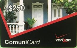 DOMINICAINE  -  Prepaid  - Verizon - ComuniCard  - RD$250 - Dominicana