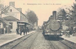 J68 - 38 - BEAUREPAIRE - Isère - La Gare PLM - Intérieur - Train - France