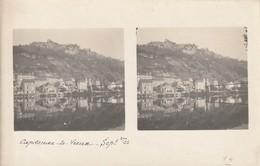 CARTE PHOTO CAPDENAC LE VIEUX STEREOSCOPIQUE Daté Septembre 1922 (Vue Générale Pont) - France