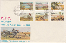 1977 Rhodesia Art Landscapes  First Day Cover - Unclassified