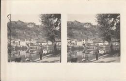 CARTE PHOTO CAPDENAC LE VIEUX STEREOSCOPIQUE (Vue Générale Pont Lavandière) - France