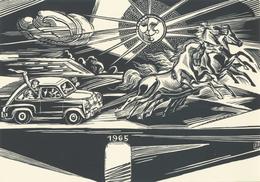 Nieuwjaarskaart 1965 Fam Leo Winkeler - Emil Kotrba (1912-1983) - Prenten & Gravure