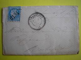 FRANCE - Belle Enveloppe Avec Correspondance Du 9/1/1873 De Henan Bihen GC 6134 Sur N° 60 Peu Commun - Marcophilie (Lettres)