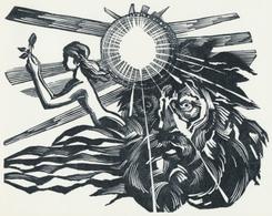 Nieuwjaarskaart Simone En Leo Winkeler - Emil Kotrba (1912-1983) - Prenten & Gravure