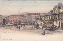 06 : NICE : Place Masséna ( Colorisée ) -  Précurseur - Timbrée - Piazze