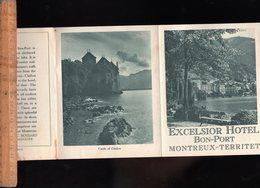 Dépliant Touristique : BON PORT MONTREUX TERRITET Suisse : Grand Hotel EXCELSIOR - Tourism Brochures