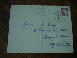 Rungis Facteur Boitier Obliteration Sur Lettre - Postmark Collection (Covers)