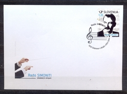 SLOVENIA - FDC - CONDUCTOR RADO SIMONITI - MI.NO.1042 - CV = 4 € - Slovénie