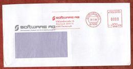 Brief, Hasler C19-313B, Software, 80 Pfg, Darmstadt 1988 (92196) - BRD