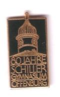 VF61 Pin's 80 Ans Offenburg Allemagne Deutschland Schiller Gymnasium Gymnastique Gymnase Achat Immédiat - Gymnastique