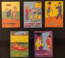 Illustrateur HOVIV - Série LES CHANSONS Lot De 5 Cartes: N° 639-640-642-643-644 (Editions Borde) - Other Illustrators