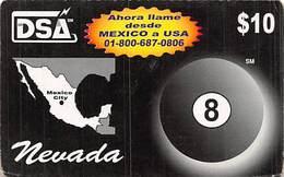 DSA  $10 Phone Card - Mexico City - Las Vegas Nevada - Phonecards
