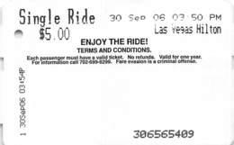 Las Vegas Monorail Ticket From 2006 - Wereld