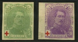 [A2356] België 129 (*) + 131 * - Koning Albert I - Rode Kruis - Roi Albert I - Croix-Rouge - Ongetand - Cote: € 66,00 - Belgien