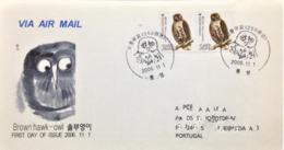 """South Korea, Circulated FDC To Portugal, """"Fauna"""", """"Birds"""", 2006 - Corea Del Sud"""