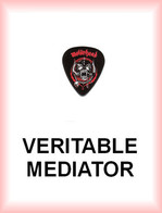 MOTORHEAD MEDIATOR Medium PLECTRUM Guitar Pick MOTÖRHEAD (noir Et Rouge) - Accesorios & Cubiertas