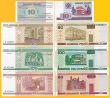 Belarus Set 10, 20, 50, 100 Rubles 2000 UNC Banknotes - Belarus