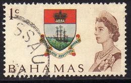 BAHAMAS 1967 COLONY BADGE CENT. 1c USED USATO OBLITERE' - Bahamas (...-1973)