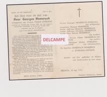 DOODSPRENTJE HEMERYCK GEORGES ECHTGENOOT STAELENS VLADSLO ZARREN 1921 - 1959 ONGEVAL - Images Religieuses