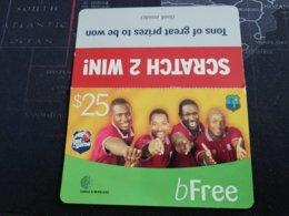 BARBADOS   $ 25 ,- BFREE WITH SLEEVE     Prepaid      Fine Used Card  ** 447 ** - Barbados