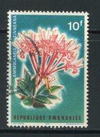 RWANDA- Y&T N°155- Oblitéré (fleurs) - Rwanda