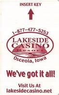 Lakeside Casino - Osceola, IA - Hotel Room Key Card - Hotel Keycards