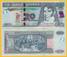 Guatemala 20 Quetzales P-124 2017 UNC Banknote - Guatemala