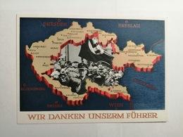Deutsches Reich  Postkarte Wir Danken Unserem Fuhrer - Brieven En Documenten