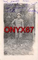 Carte Postale Photo Militaire Soldat Annamite (Asie-Asien-Asia-Indochine-Viêt-Nam) En Tenue Avec Casque 2 SCANS - Guerres - Autres
