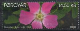 Faroe Islands 2014 Mi. 801 MNH, Soft Downy Rose, Rosa Mollis, Mjúk Rósa - Isole Faroer