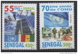Sénégal 2015 ONU UNO UN United Nations 70 Ans Years Casques Bleus Blue Helmet Blauhelme Medecine Flag Drapeau MNH** - Senegal (1960-...)