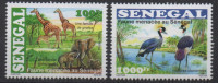 Sénégal 2015 Faune Menacée Threatened Fauna éléphants Girafes Giraffen Elefanten Birds Oiseaux Vögel Elephants Giraffe - Senegal (1960-...)