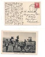3099) Spagna 1936 30c Isolato Card To Danimarca Malloraca Palermo Carretto Sicilia - 1931-50 Storia Postale