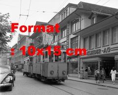 Reproduction D'une Photographie Ancienne D'un Tramway Circulant à Thun-Steffisburg En Suisse En 1958 - Riproduzioni